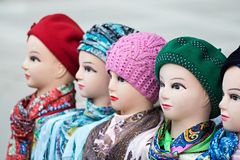 Female dummies of the heads Royalty Free Stock Photos