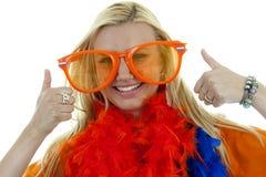 Female dutch soccer fan Stock Photography