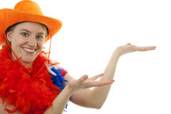 Female dutch soccer fan Stock Photo