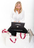 Female e-commerce customer Royalty Free Stock Photos