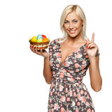 Female with Easter eggs Royalty Free Stock Photo