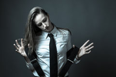 Female Editorial On Masculinity Stock Photo