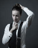 Female Editorial On Masculinity Royalty Free Stock Photos