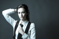 Female Editorial On Masculinity Royalty Free Stock Image