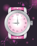 Female elegant watch on the dark background Stock Photography