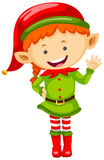 Female elf in green outfit Royalty Free Stock Images