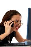 Female employee smiling Stock Photography