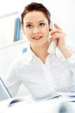 Female employer Royalty Free Stock Images