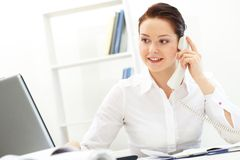 Female employer Royalty Free Stock Images