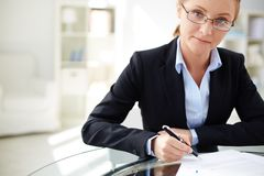 Female employer Royalty Free Stock Photos
