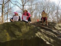 Female Empowerment, Women`s March, Central Park, NYC, NY, USA Royalty Free Stock Photo