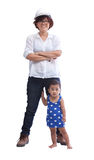 Female engineer with baby standing beside Royalty Free Stock Images