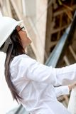Female engineer at a construction site Royalty Free Stock Photos