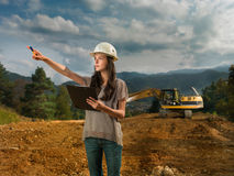 Female engineer on construction site Stock Photography