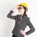 Female engineer looking away Stock Image