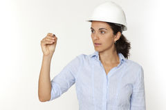 Female engineer writing Stock Photography