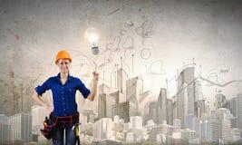 Female engineer Royalty Free Stock Image