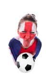 Female english soccer fan Stock Photos