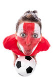 Female english soccer fan Stock Images