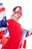 Female english soccer fan Royalty Free Stock Photos