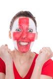 Female english soccer fan Stock Photos