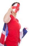 Female english soccer fan Stock Photo