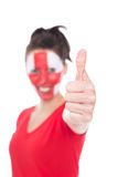 Female english soccer fan stock image