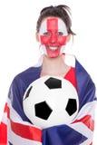 Female english soccer fan Stock Photography