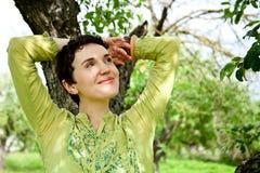 Female Enjoying Summer Day Stock Image