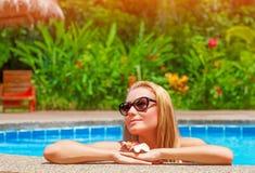 Female enjoying summer holidays Royalty Free Stock Photos