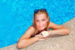 Female enjoying summer holidays Stock Photography