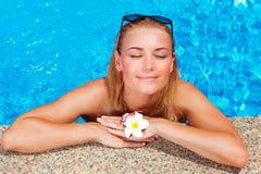 Female enjoying summer holidays Royalty Free Stock Photography