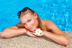 Female enjoying summer holidays Stock Images