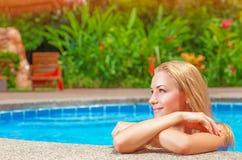 Female enjoying summer holidays Stock Photo