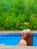 Female enjoying summer holidays Stock Image