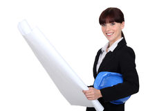 Female entrepreneur. Is ready to get going Stock Photos