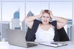 Female entrepreneur frustration with job Stock Images