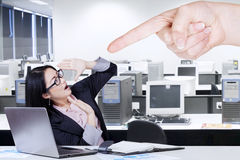 Female entrepreneur getting intimidation Stock Images