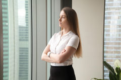 Female entrepreneur thinking about perspectives Stock Photography