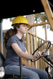 Female Equipment Operator Royalty Free Stock Image