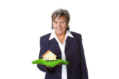 Female estate agent Royalty Free Stock Photo