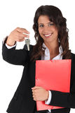 Female estate-agent. Ambitious young female estate-agent Royalty Free Stock Photography