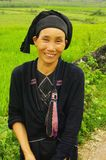 Female ethnic La Thi. Woman of the ethnic La Thi in the region of Bac Quang - Ha Giang. North Vietnam Royalty Free Stock Image