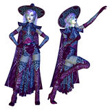 Female evil witch Royalty Free Stock Image