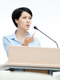 Female executive at the board Royalty Free Stock Images