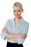 Female executive posing with folded arms Royalty Free Stock Image