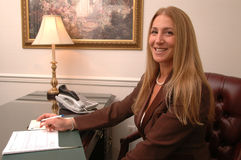 Female executive  smiling Royalty Free Stock Images