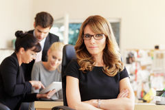 Female executive smiling Royalty Free Stock Photography