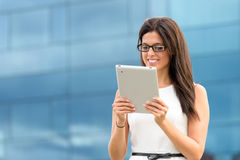 Female executive with tablet royalty free stock photography