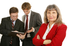 Female Executive & Team Stock Photo